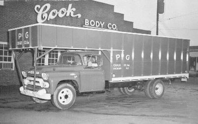 old photo of van body at Cook Truck Equipment(formerly known as Cook Body Company